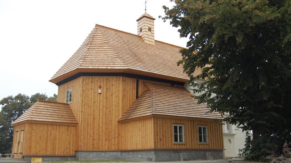 Zdjecie przedstawia kościół p.w. św. Floriana