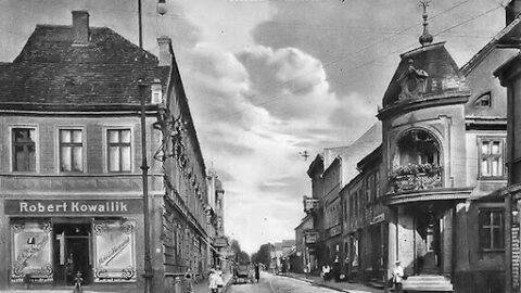 Zdjęcie przedstawia Pleszew w okresie międzywojennym