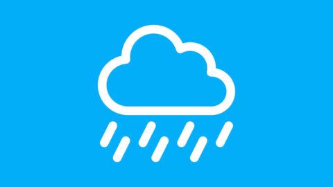 Obrazek przedstawia ikonę symbolizującą deszcz