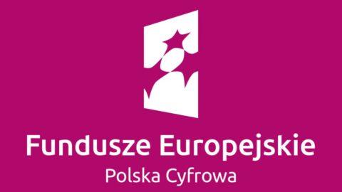 Grafika oznaczajaca Fundusze Europejskie i program Polska Cyfrowa