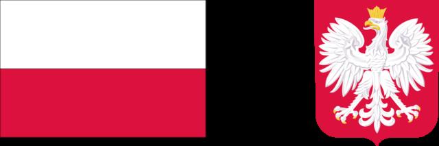 Logotyp dofinansowania ze środków krajowych - flaga i godło Polski